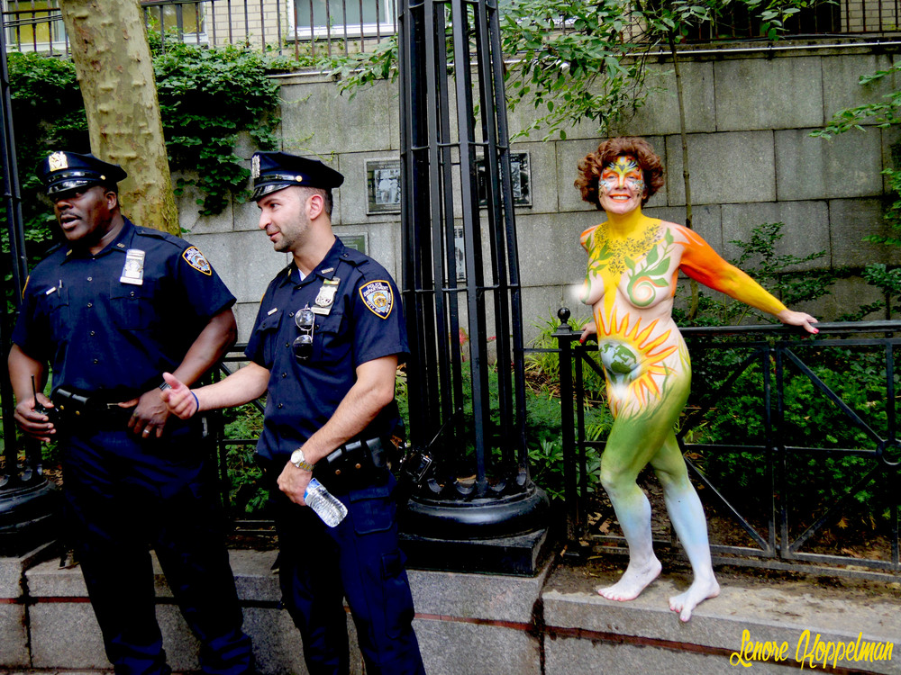 NYC Body Painting Day model 2 cops for FB.jpg