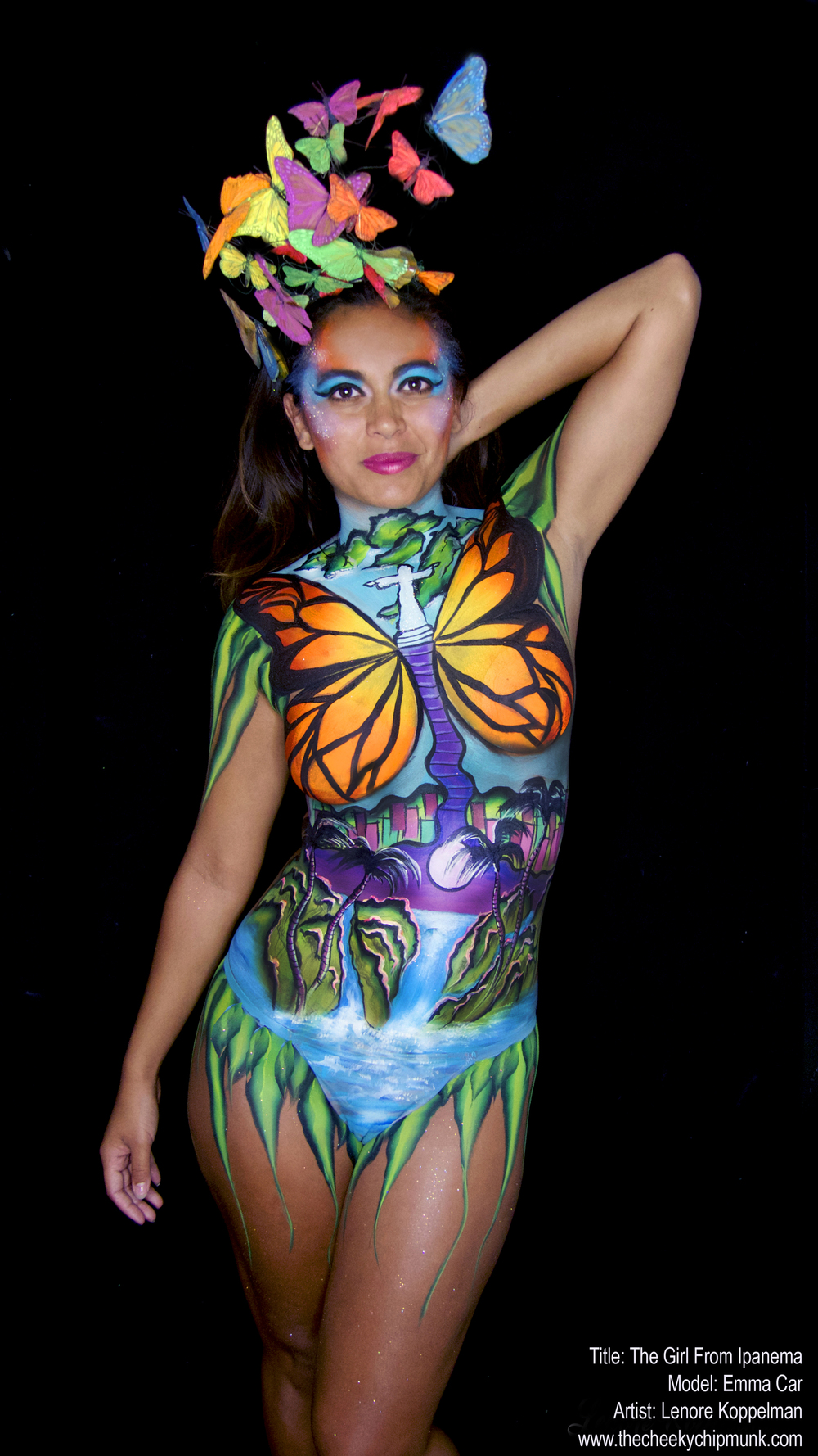 the girl from ipanema body painting emma car.jpg
