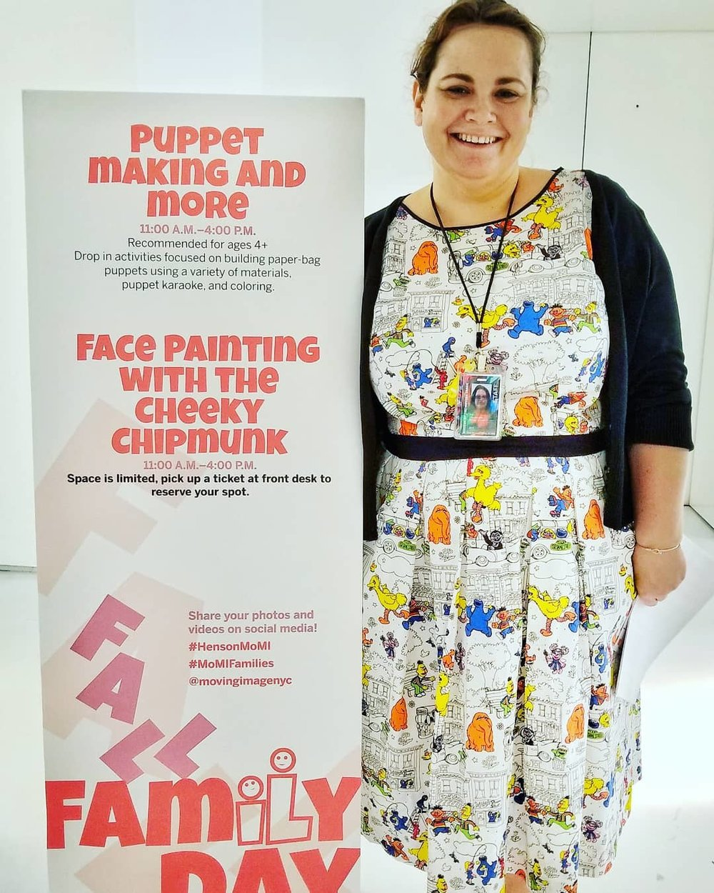 The Cheeky Chipmunk Face Painting at  The Museum of The Moving Image  for  the Jim Henson Exhibit  on Fall Family Day, 2018.