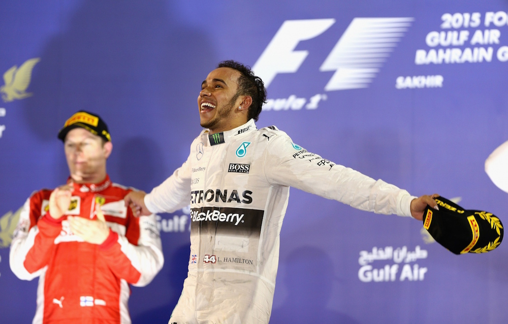 Lewis celebrates great win