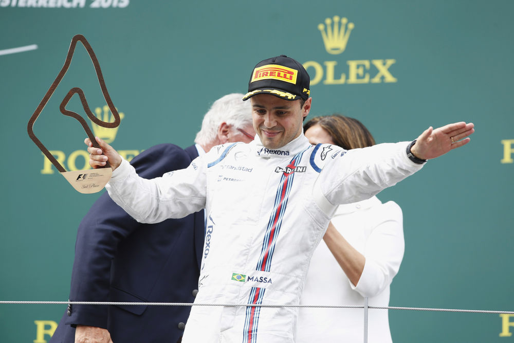Happy man in the podium, Felipe Massa