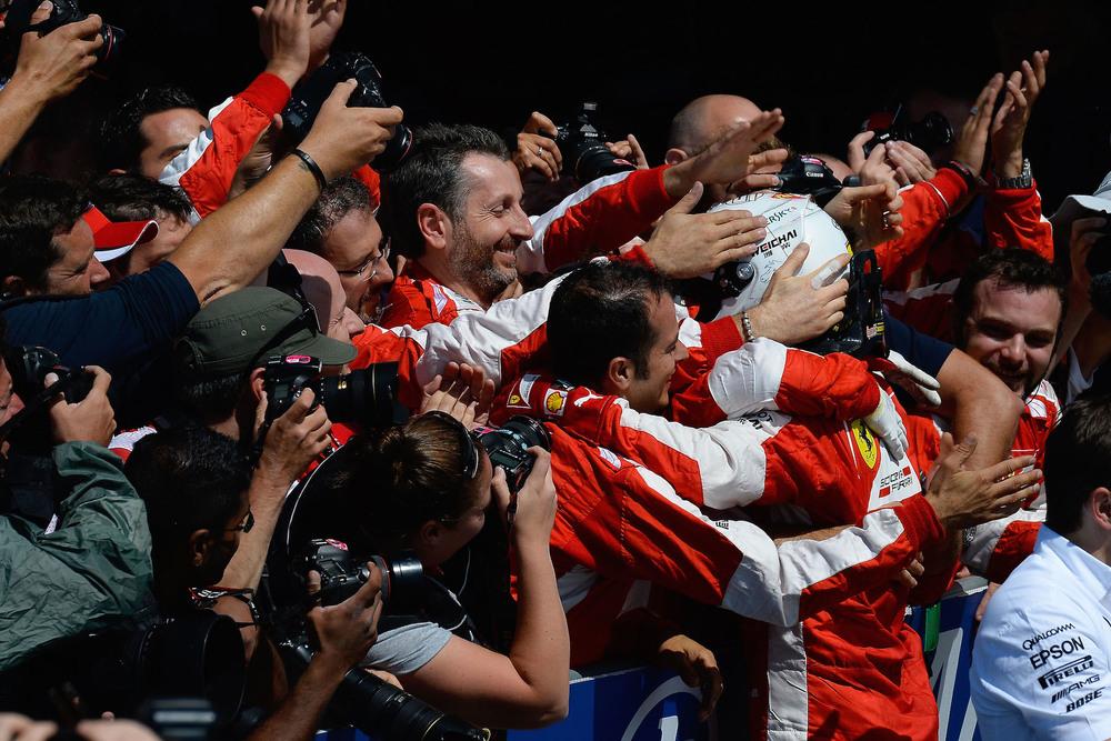 Vettel congratulated