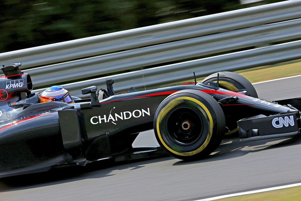 Alonso driving Chandon McLaren