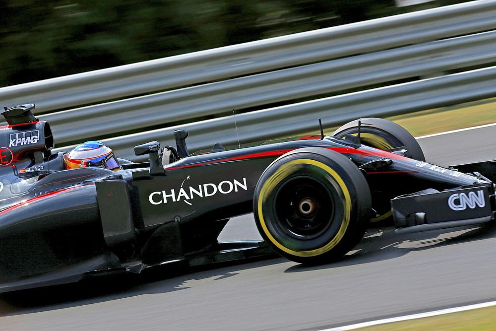 Alonso driving Chandon McLaren