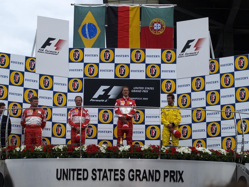 2005 USGP Podium