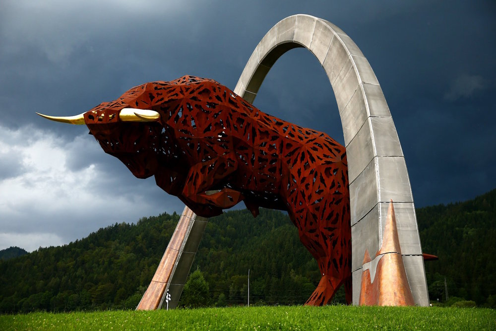 Salracing - The Red Bull statue at the Red Bull Ring