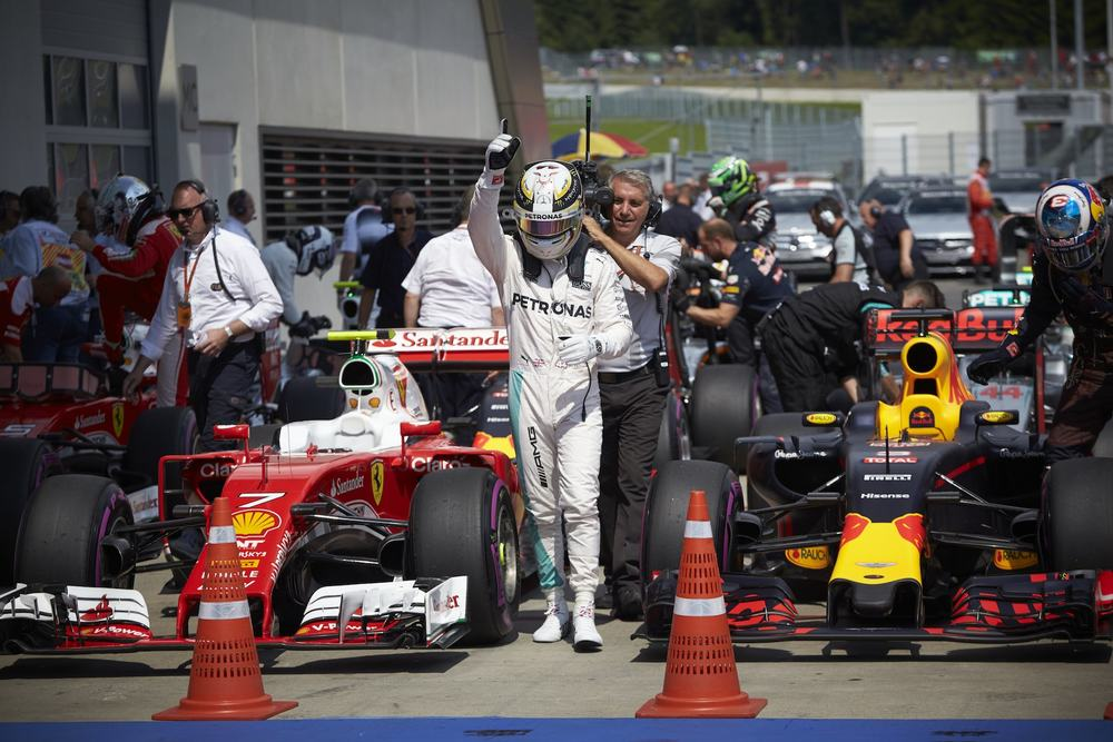 Salracing - Lewis Hamilton after qualifying on Pole