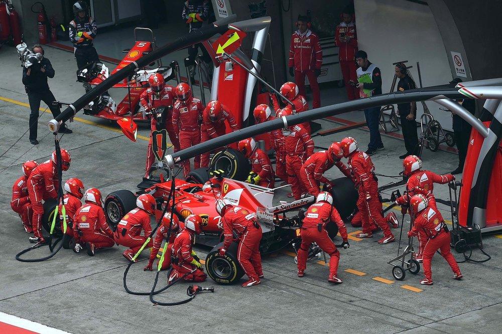 H 2017 Kimi Raikkonen and Sebastian Vettel | Ferrari SF70H | 2017 Chinese GP P2 3b copy.jpg