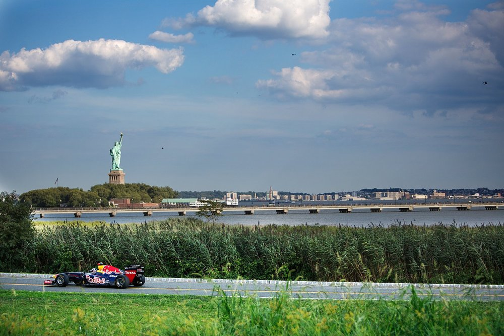 Red Bull's RB7 and the Statue of Liberty