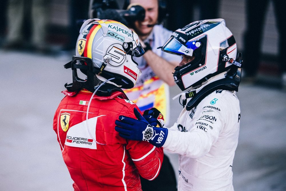 Salracing | Vettel congratulates Bottas at Sochi 2017