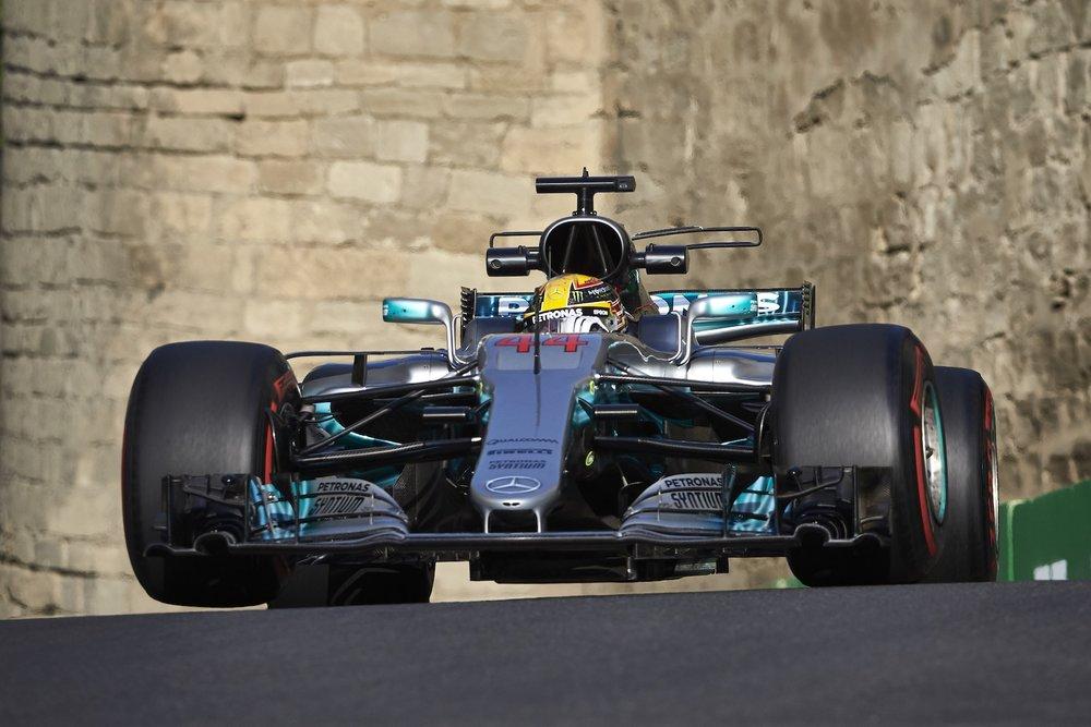 2017 Lewis Hamilton | Mercedes W08 | 2017 Azerbaijan GP FP2 1 Photo by Steve Etherington copy.JPG