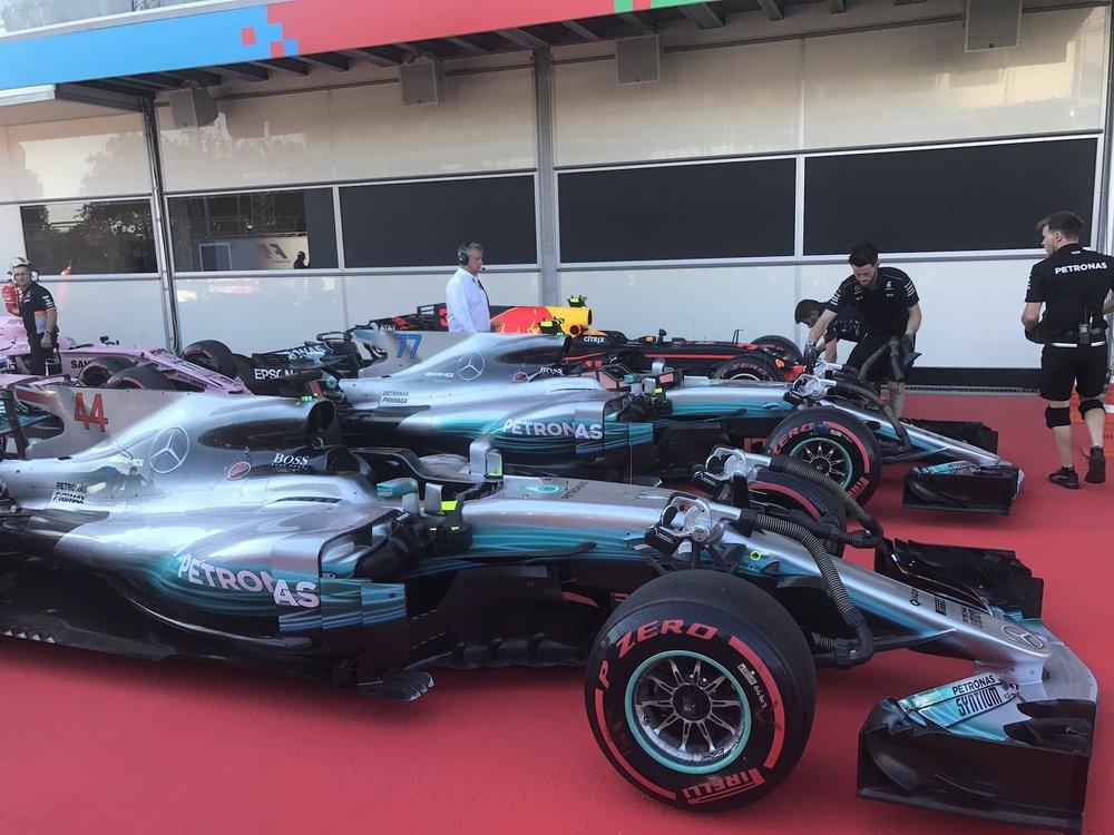 W 2017 cars on pole | 2017 Azerbaijan GP 1 copy.jpg