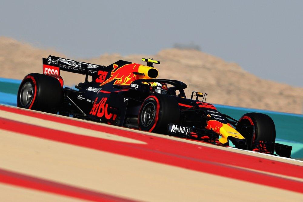 2018 Max Verstappen | Red Bull RB14 | 2018 Bahrain GP FP3 1 Photo by Mark Thompson copy.jpg