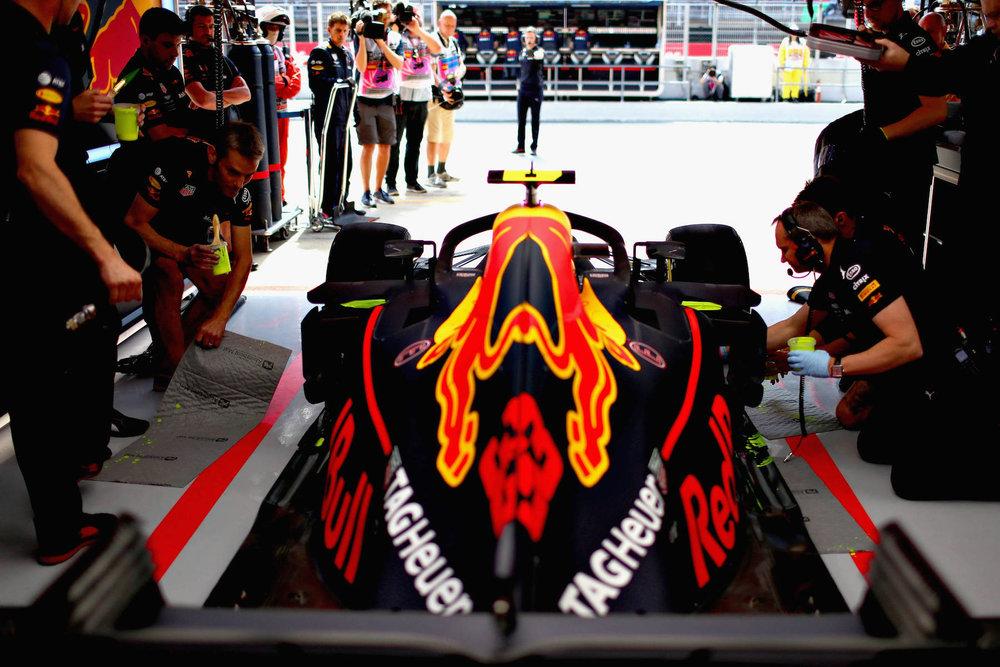 2018 Max Verstappen | Red Bull RB14 | 2018 Spanish GP FP1 1 Photo by Mark Thompson copy.jpg