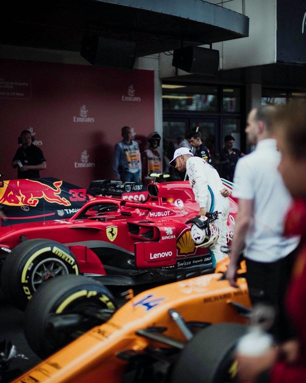 2018 Lewis taking a peek at Sebs Ferrari | 2018 Spanish GP Q3  copy.jpg
