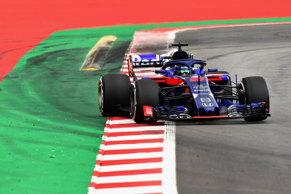 H 2018 Brandon Hartley | Toro Rosso STR13 | 2018 Spanish GP 1 2018 Max Verstappen | Red Bull RB14 | 2018 Spanish GP P3 1 Photo by David Ramos copy.jpg