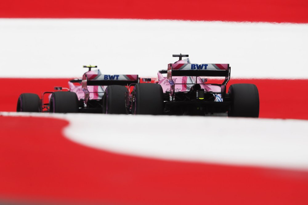 2018 Force India drivers | Force India VJM10 | 2018 Austrian GP FP2 1 copy.jpg