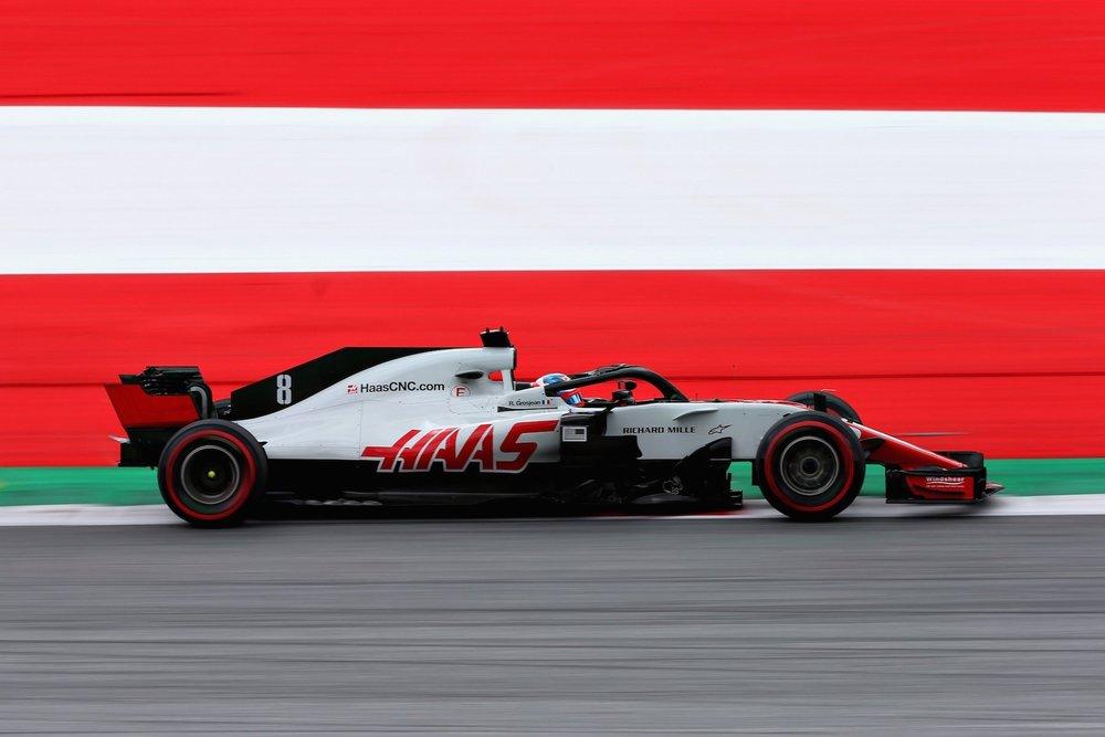 2018 Romain Grosjean | Haas VF18 | 2018 Austrian GP FP1 1 copy.jpg