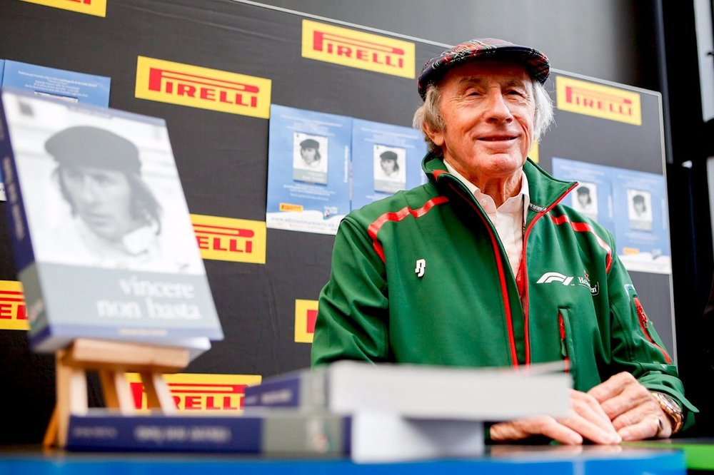 2018 Sir Jackie Stewart presenting the Italian edition of his book 'Winning is not enough ', 'Vincere non basta | 2018 Italian GP 1 copy.jpg