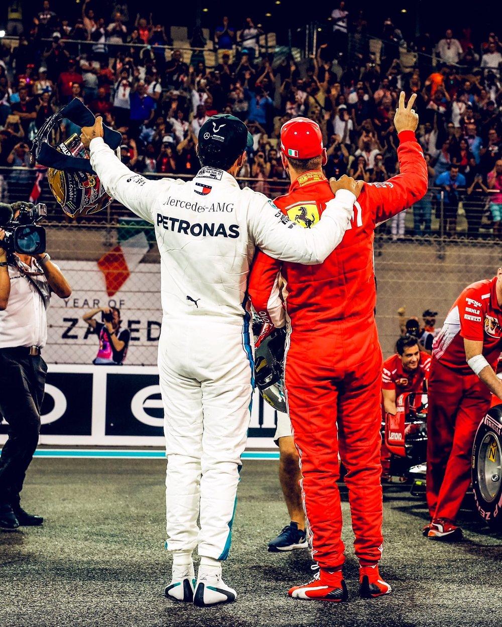 1 - Lewis and Seb at Abu Dhabi