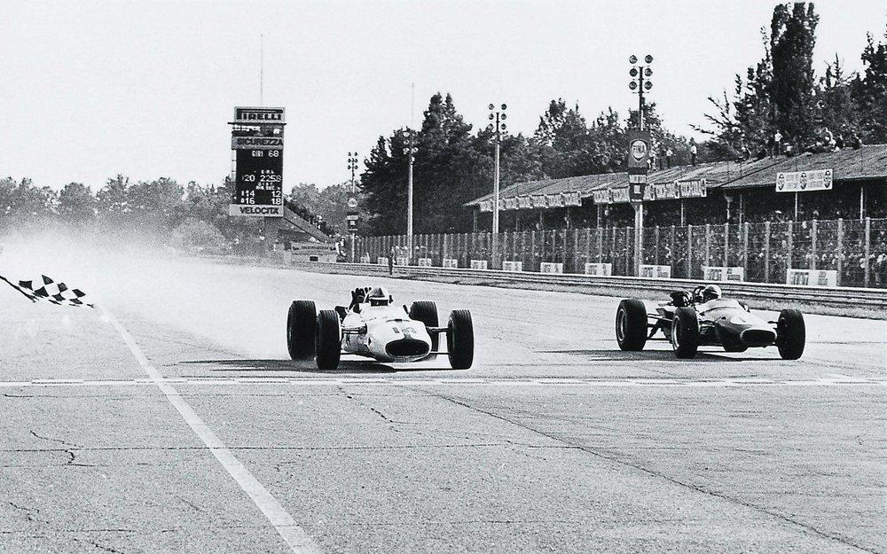 1967 Italian GP finish
