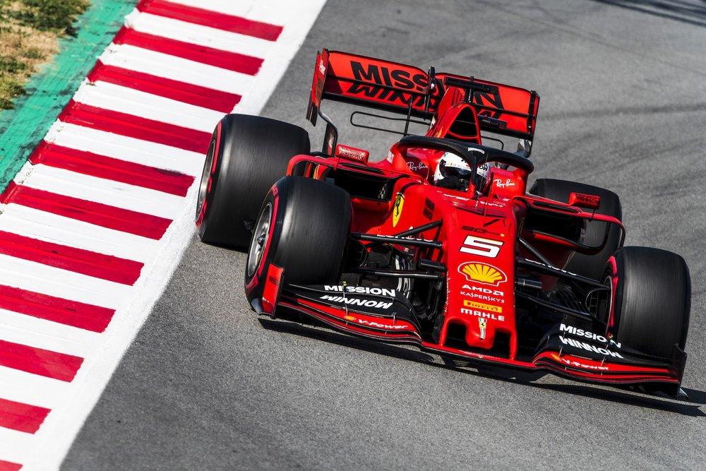 2019 Sebastian Vettel | Ferrari SF90 | 2019 Barcelona T2 D4 3.jpg