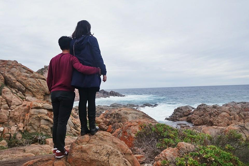 During our vacation at Sugarloaf Rock in Western Australia