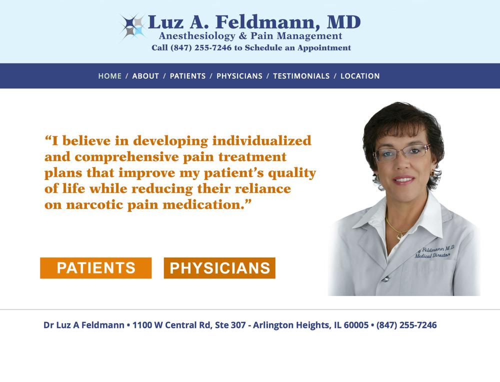 Luz A. Feldmann, MD • Anesthesiology & Pain Management   DrLuzFeldmann.com