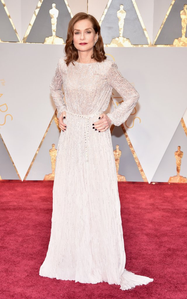 Isabelle Huppert in Armani Prive Gown