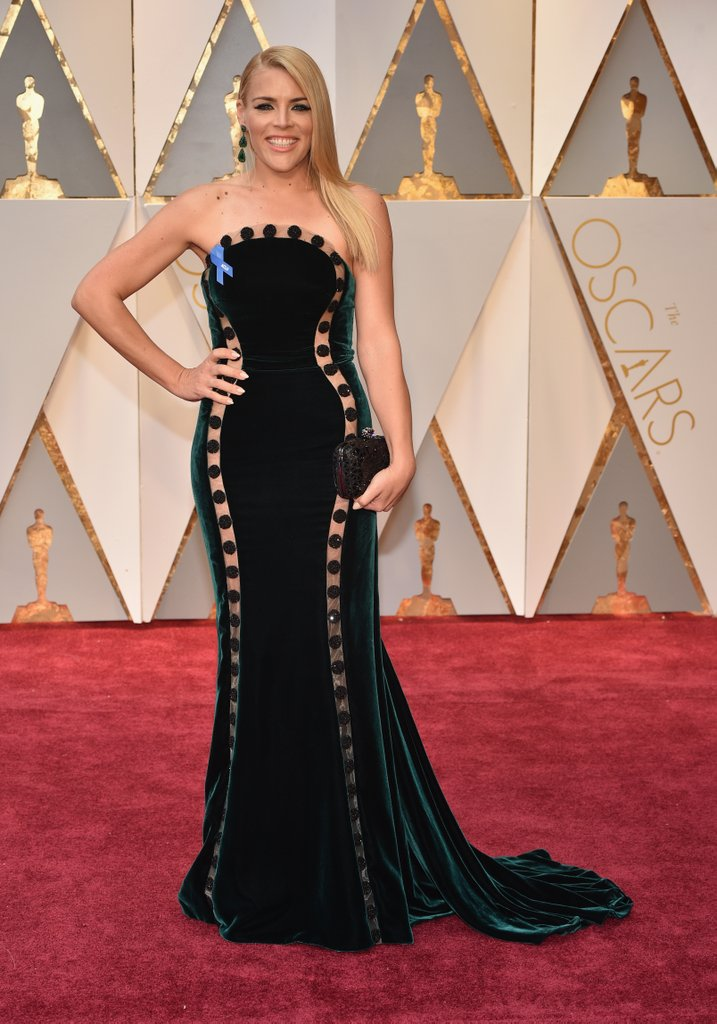 Busy Philipps in Elizabeth Kennedy Gown