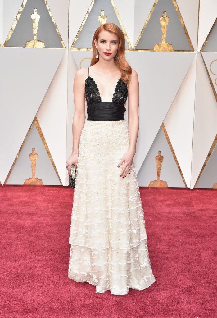 Emma Roberts in Vintage Armani Gown