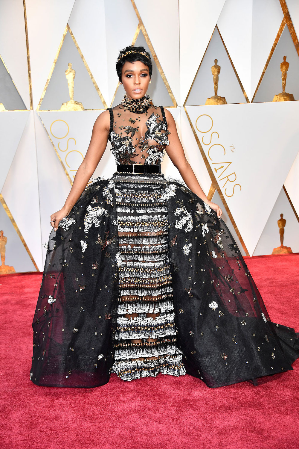 Janelle Monae wearing Elie Saab Couture
