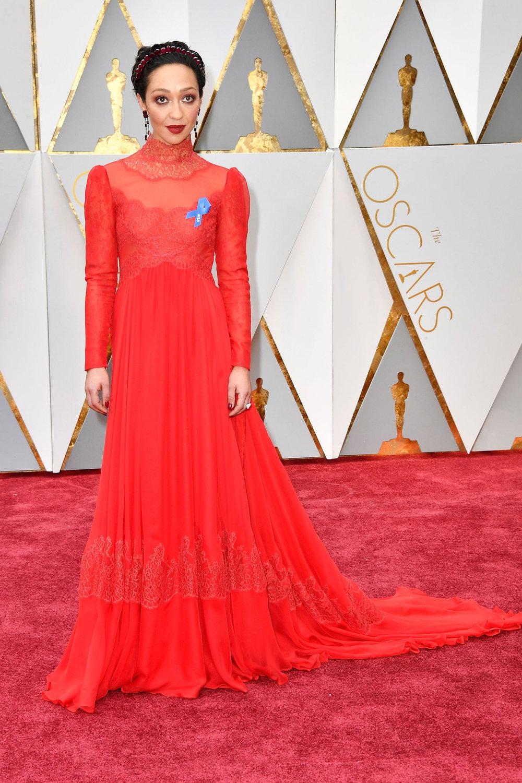 Ruth Negga wearing Valentino