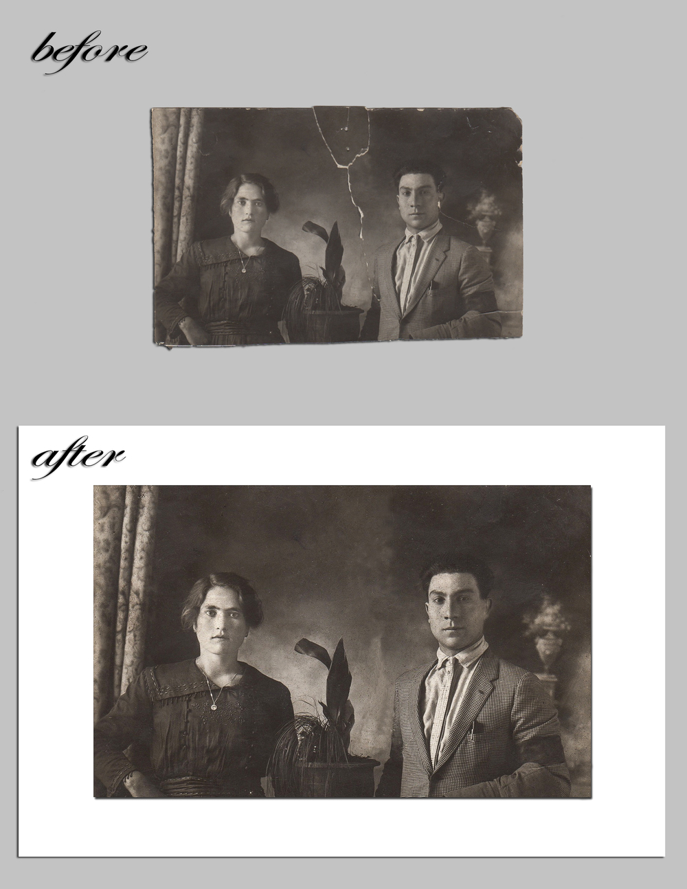 Angela & Napoleon Calvino - Before and after - K&N Media Edit.jpg