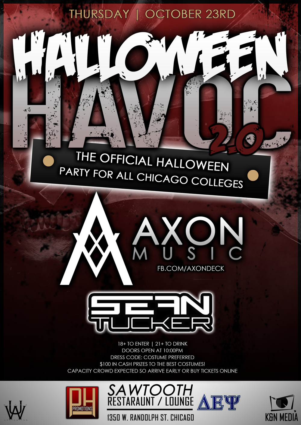 Halloween Havoc 2 Flyer Design 1b - K&N Media.jpg