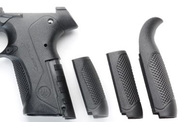 Interchangeable backstraps of a Beretta PX4 (Nazarin's Gun's Recognition Guide)