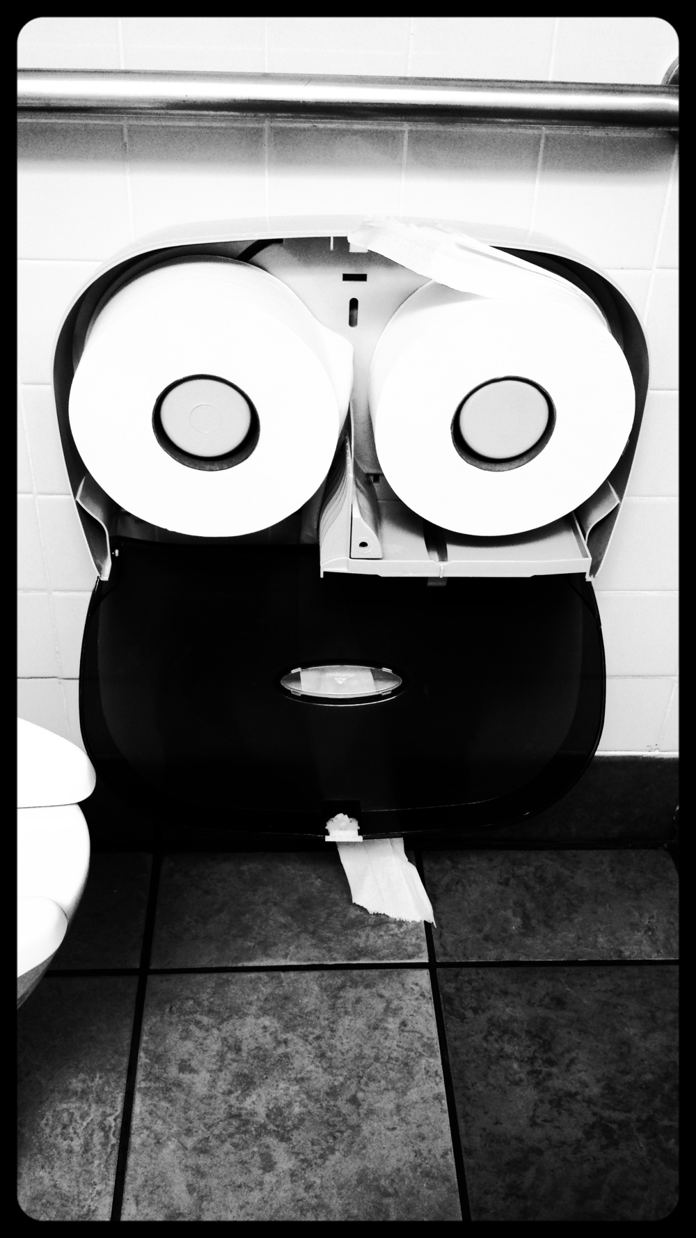 Toiletpaper dispenser, NY State Thruway