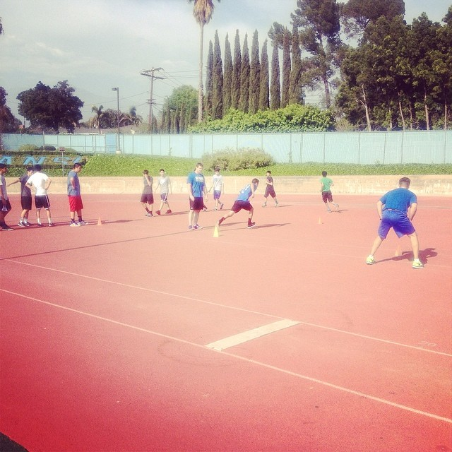 speed drills with SMHS basketball. #SMACTraining #SMHS