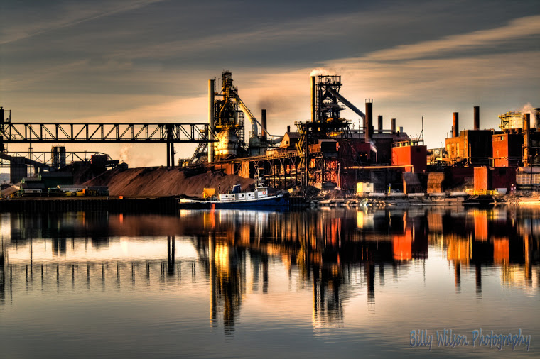 Photo by Billy Wilson: Essar steel on the Saint Mary's River late in the day. Ontario, Canada.