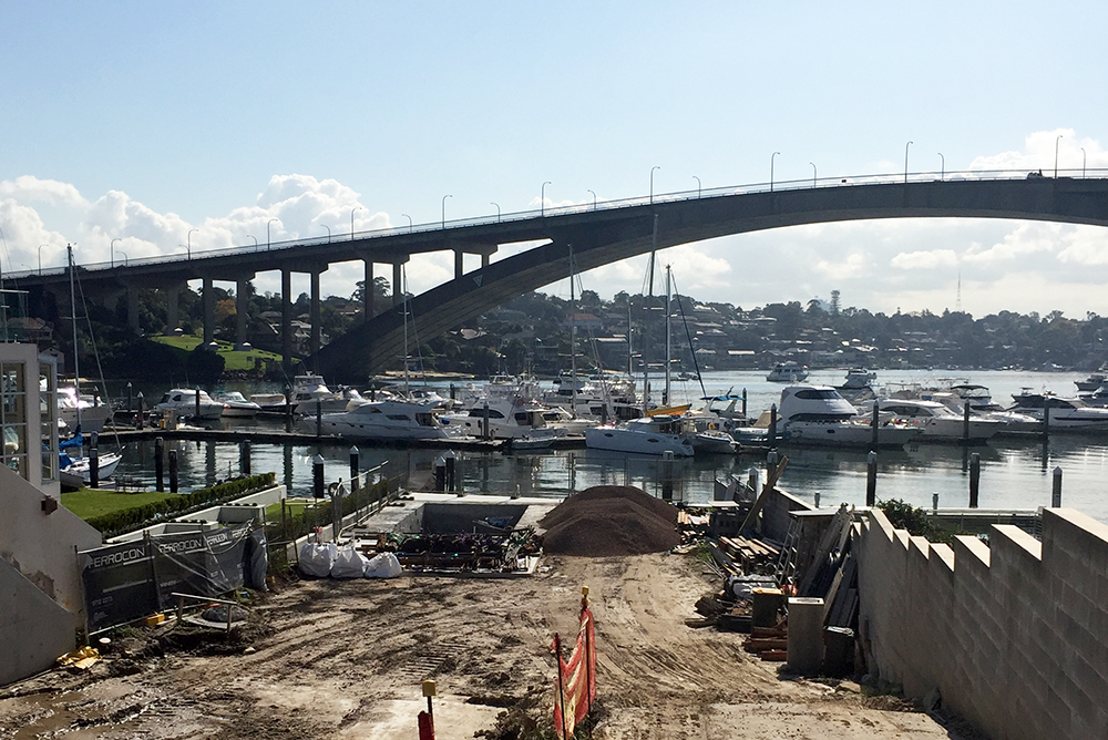 The bulk excavation has been completed at our waterfront apartments project in Drummoyne. The swimming pool has been poured and the crane is due for arrival shortly. Once complete the project will include 9 luxury apartments with 2 levels of underground parking.