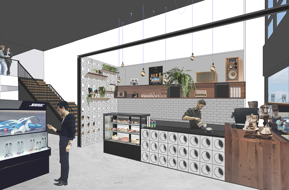 We are working on a new commercial project in Dural, involving the conversion of an existing restaurant into a Hi-Fi store and cafe. Concrete breeze blocks, black steel, timber veneer and scattered greenery will create a modern tech-meets-industrial interior. Construction is expected to commence shortly.