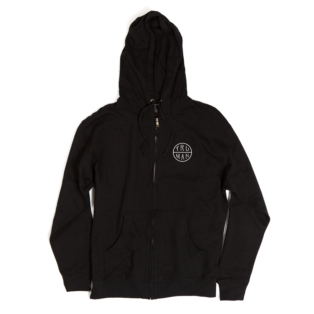 Lattice Front Zip Fleece | Black | $49