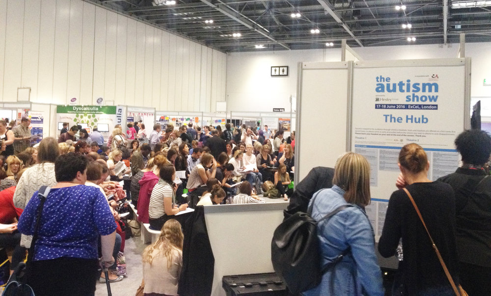 Research at the autism show 2016, London.