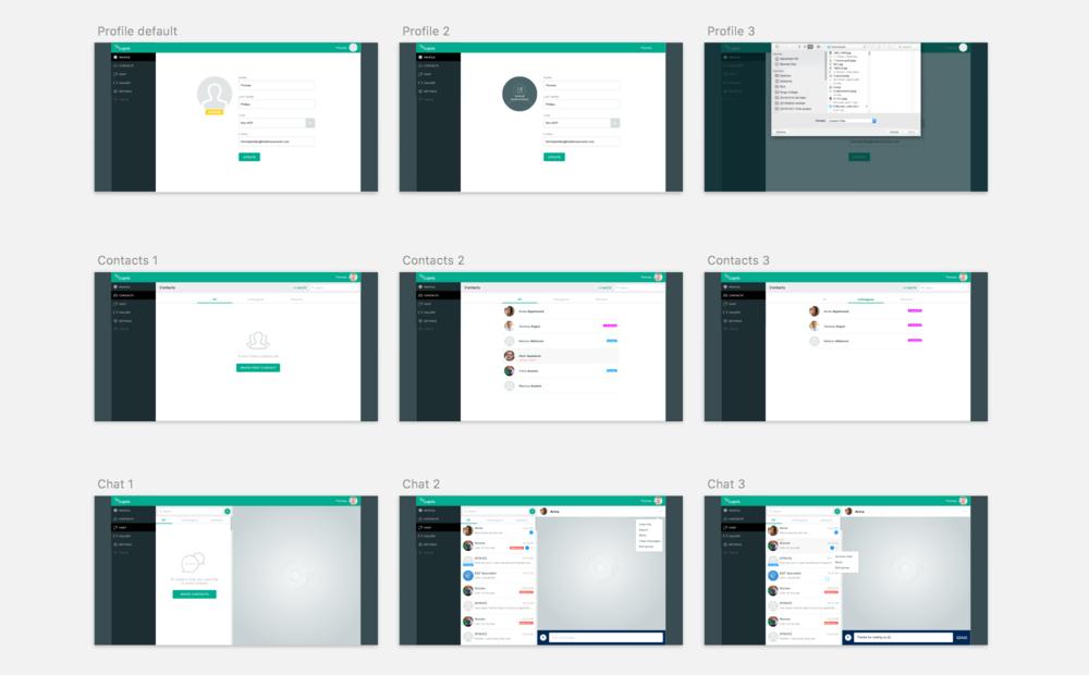 Desktop UI section overview