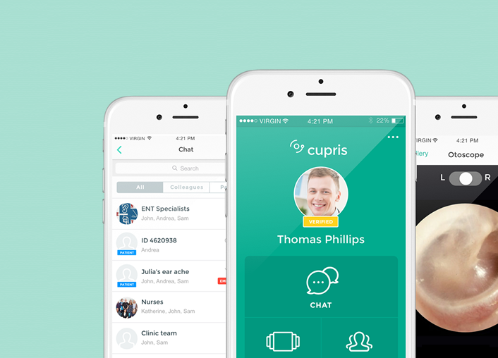 Cupris Health - UX/UI design in Healthcare | Client: Cupris Health