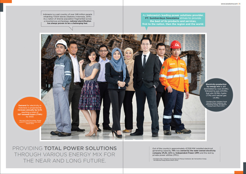 Tear Sheet:  Company Profile of PT. Sumberdaya Sewatama.