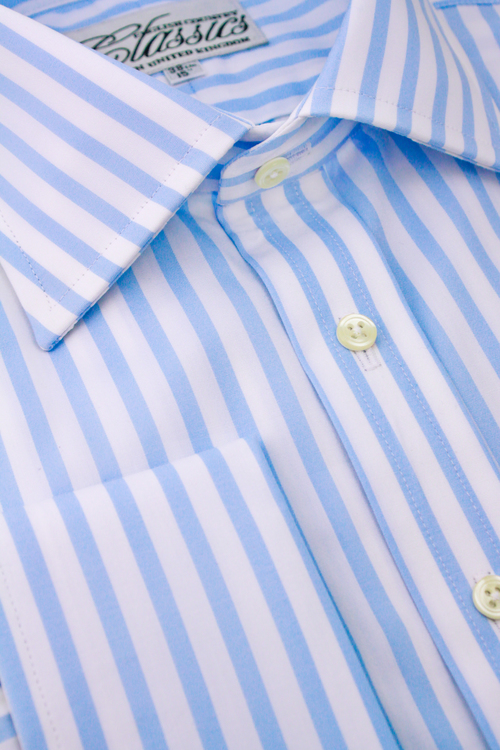 de9664f40b Light Blue Bengal Stripe & Double Cuff (15R Only) — C.D. Rigden ...