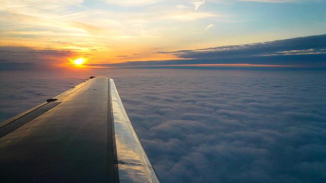 Cross country flight. Seat 18F.