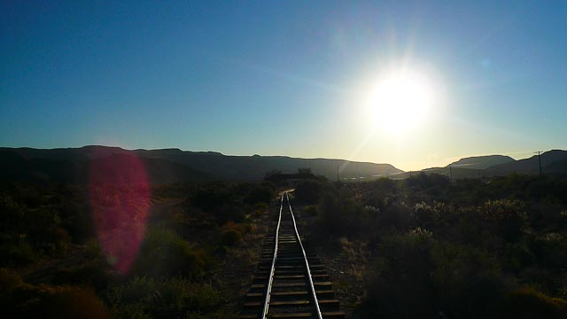 Train tracks in Nevada.