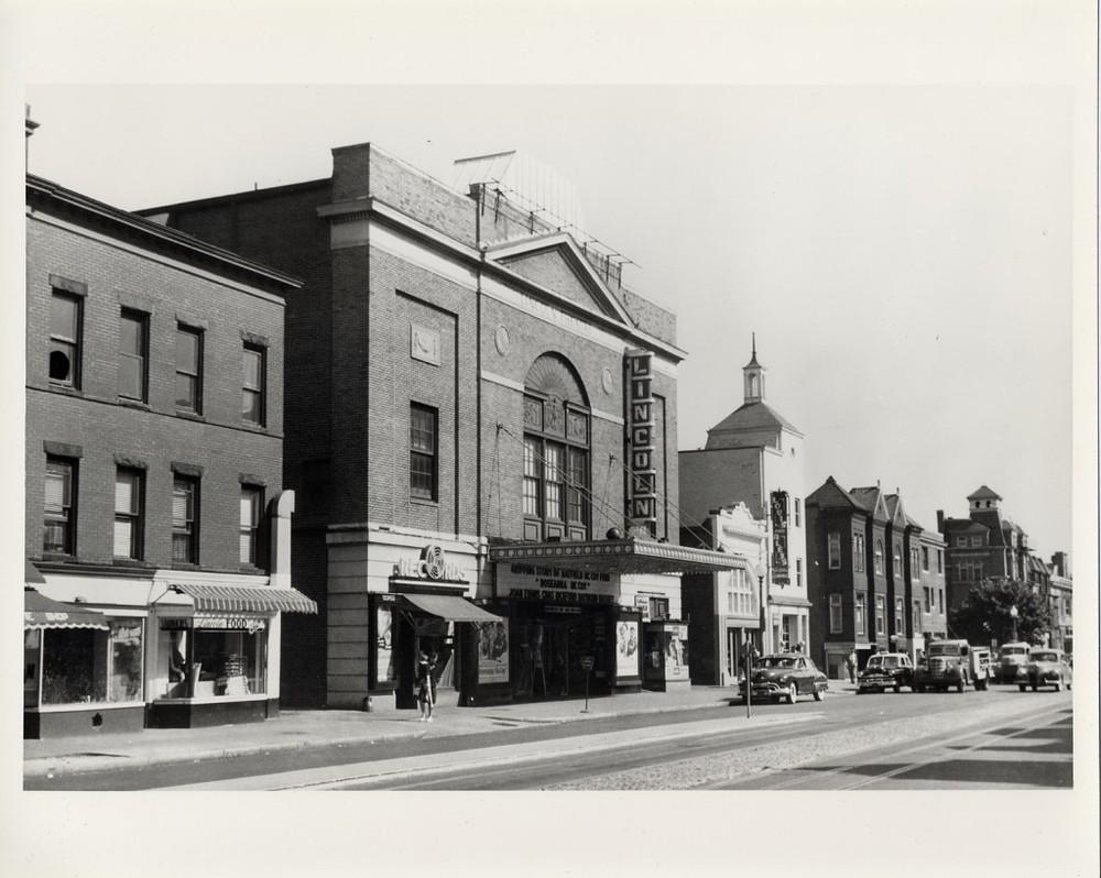 """D.C.'s U street corridor aka """"Black Broadway"""" in 1950. Photo credit: Scurlock Studio"""